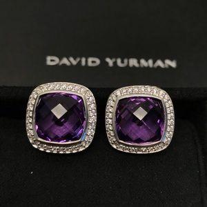 David Yurman Albion 11mm Amethyst Diamond Earrings